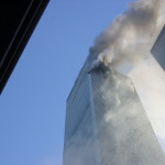 John Chatterton's view of 911 tower 1 after hit From the trailer