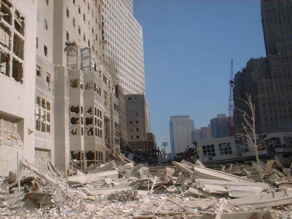 John Chatterton Job Site Two Days after 911 NYC